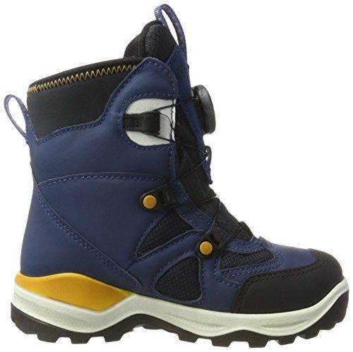 ECCO Snow Mountain, Zapatillas Altas Para Niños Azul (Black/poseidon/marine-poseidon)
