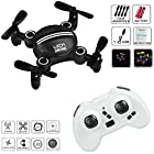 Drone RC Mini Drones for Kids Headless Quadcopter Drone with Foldable Remote Control Helicopter 2.4GHz 6-Axis Kids Drone One Key Return Small airplane for Indoor / Outdoor Flying (Black)