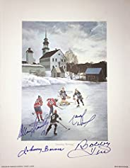 Signed J. Bower, B. Hull, A. Stanley, M. Dionne Lithograph - HHOF