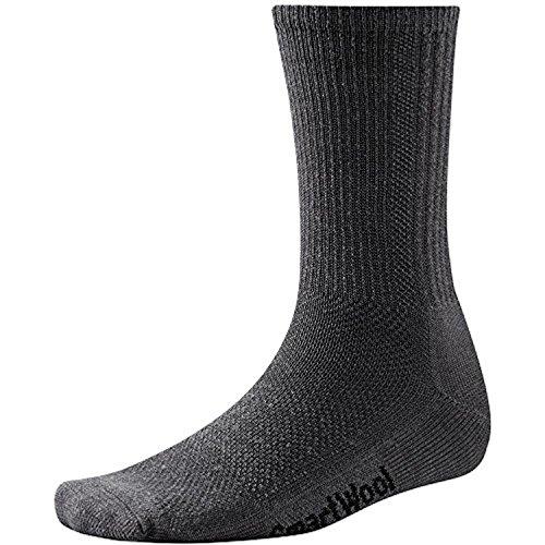 Smartwool Mens Hiker (smartwool Hike Ultra Light Crew Socks Charcoal M 2Pack)