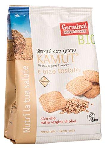 5 opinioni per Germinal Bio Biscotti Kamut e Orzo Tostato- 2 pezzi da 250 g [500 g]