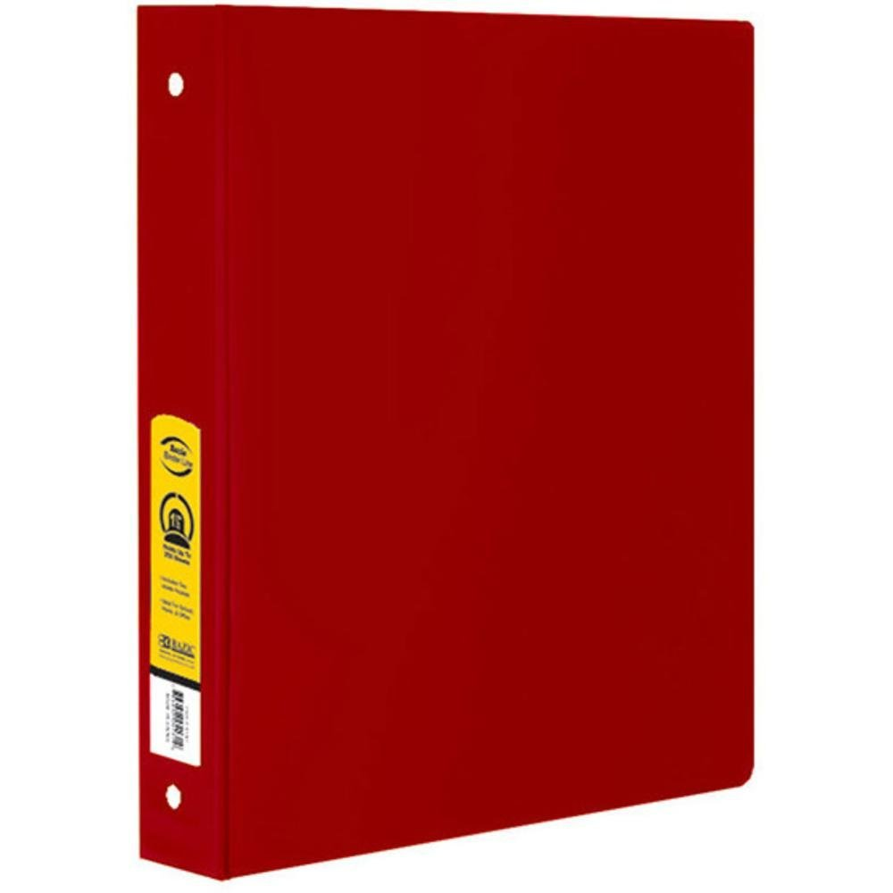 Ddi 1196388 bazic 15 in red 3 ring binder with 2 pockets case of red 3 ring binder with 2 pockets case malvernweather Gallery