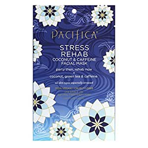 Pacifica Stress Rehab Coconut and Caffeine Facial Mask 0.67oz , pack of 1