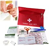 EatingBiting(R)Pack Set 13 kinds Medical Emergency Bag with Zipper Survival First Aid Kit Waterproof Compact Response Trauma Bag Camping Travel Car Treatment Rescue Pouch