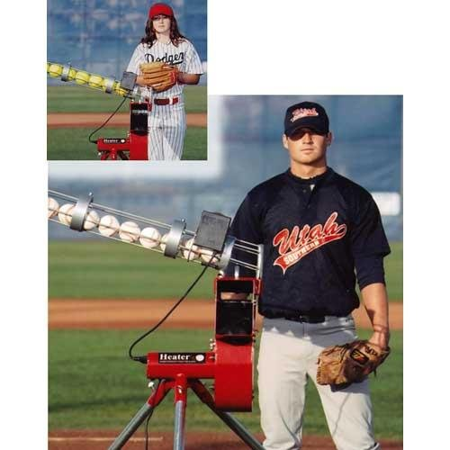 HEATER SPORTS BASEBALL/SOFTBALL COMBO PITCHING MACHINE w/ AUTO FEEDER by Heater Sports