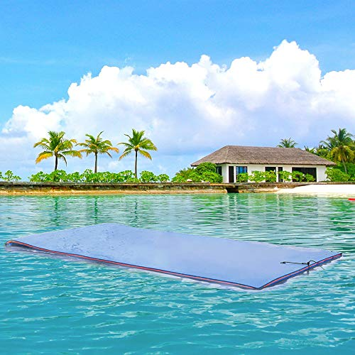 Superday Floating Water Mat Recreation Foam Pad Adults Kids Relax On Pool Lake&Ocean 9' x 6, Blue by Superday (Image #3)