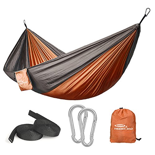 Forbidden Road Hammock Single Double Camping Portable Parachute Hammock for Outdoor Hiking Travel Backpacking - Nylon Hammock Swing - Support 400lbs Ropes Carabiners