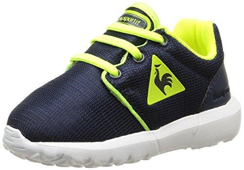 Le Coq Sportif Dynacomf Inf Mesh - Zapatos de primeros pasos Bebé-Niñas Azul - Bleu (Dress Blue/Safety Yellow)