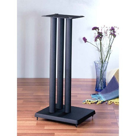 VTI Manufacturing RF19 19 in. H44; Iron Center Channel Speaker Stand - Black by VTI Manufacturing