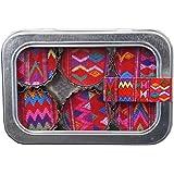 Kate Grenier Designs Guatemala Textile Bottle Cap Magnets