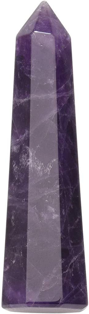 Jovivi Healing Crystal Wands Natural Amethyst Crystal Quartz Points 6 Faceted Tumbled Reiki Chakra Stones Meditation Therapy Home Decor