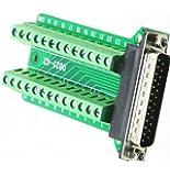 So-myshtech Connector DB25 D-SUB Male Plug 25-pin Port 2 Row Terminal Breakout PCB Board