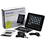 DIGIX TAB-840 Tablet with 8 Touchscreen, Android 4.1 OS, Dual-Core processor, 2MP Camera, Quad-core Graphics, 1GB RAM, Bluetooth v3.0, Wi-Fi, MP3 / Video Player and microSD Slot - White/Black