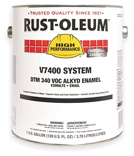 rust-oleum-v7400-series-340-voc-dtm-alkyd-enamel-safety-green-gallon-can-lot-of-2