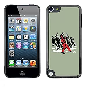 Be Good Phone Accessory // Dura Cáscara cubierta Protectora Caso Carcasa Funda de Protección para Apple iPod Touch 5 // Funny Dancing Zombie