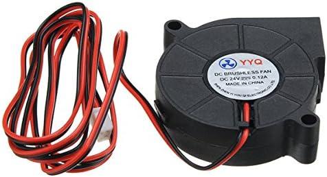 Ils - 3 Piezas Ventilador de refrigeració dc24v Ventilador Ultra silencioso de la turbina de la Pequeña CC 5015 para la Placa de Circuito de la Impresora 3D
