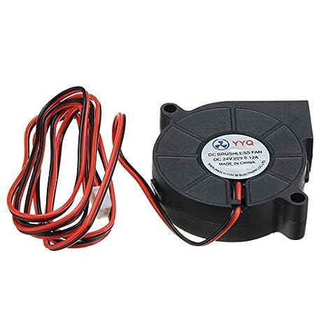 Ils - 3 Piezas Ventilador de refrigeració dc24v Ventilador Ultra ...