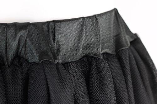 Estilo Vintage 1950s Rockabilly hasta la rodilla red de tul enaguas tutu ballet falda