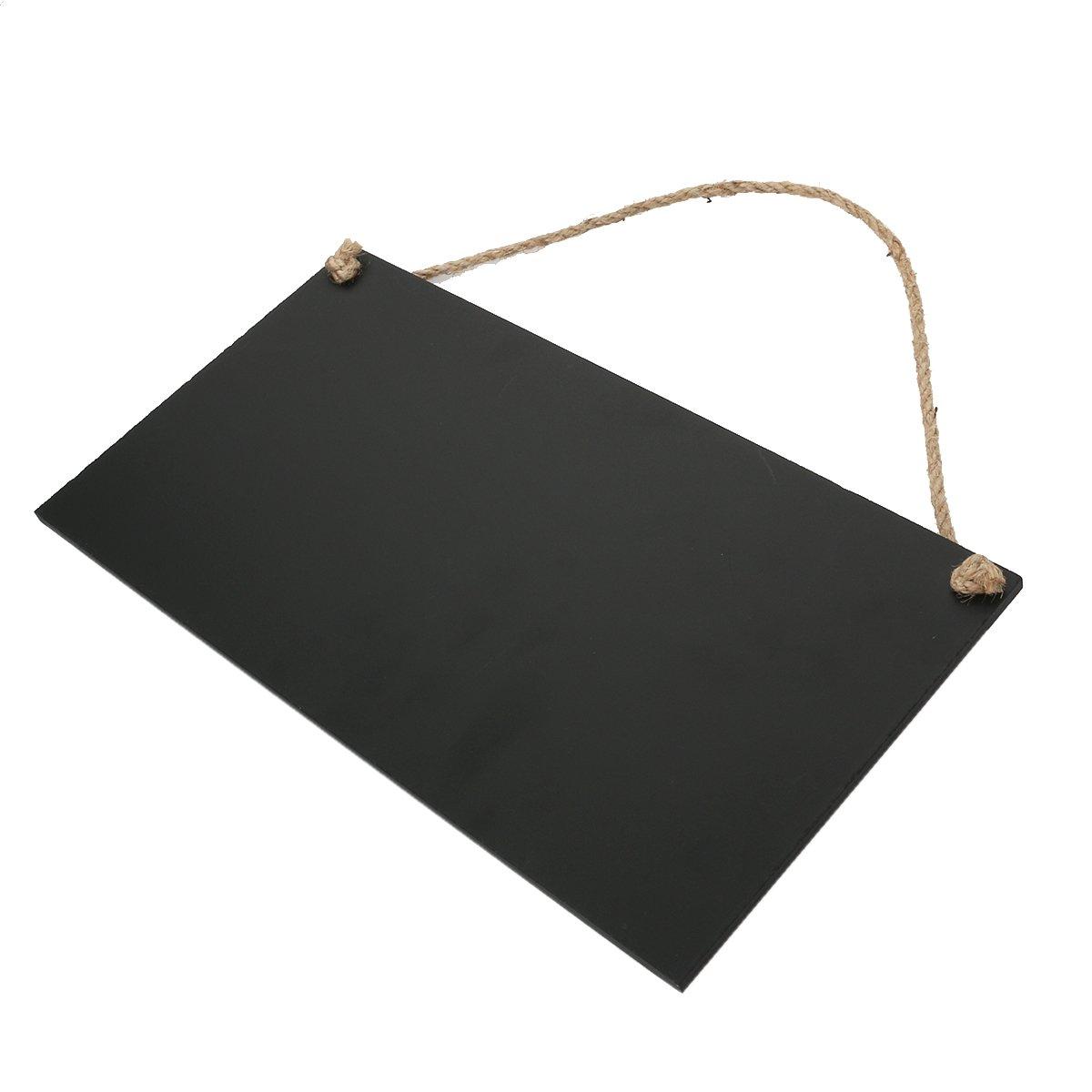 rosenice 26/x 14/cm rectangular pizarra de madera para colgar mensaje Junta para hogar cocina suministro