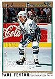 Paul Fenton Hockey Card 1991-92 OPC Premier 187 Paul Fenton