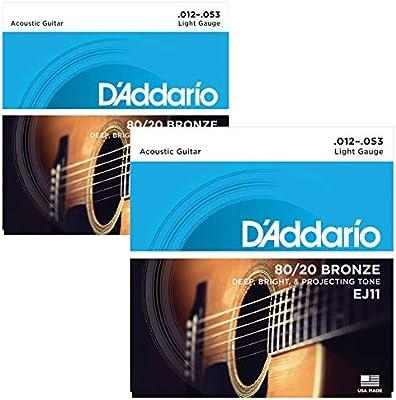D Addario 80/20 bronce Guitarra acústica Cuerdas: Amazon.es ...