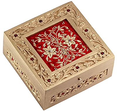 SouvNear Wooden Jewelry Box - Unique Case for Your Fashion Accessories - Earrings, Rings, Bracelets