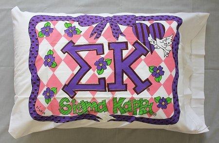 Bunnies and Bows - Sigma Kappa - Personalized Pillowcase