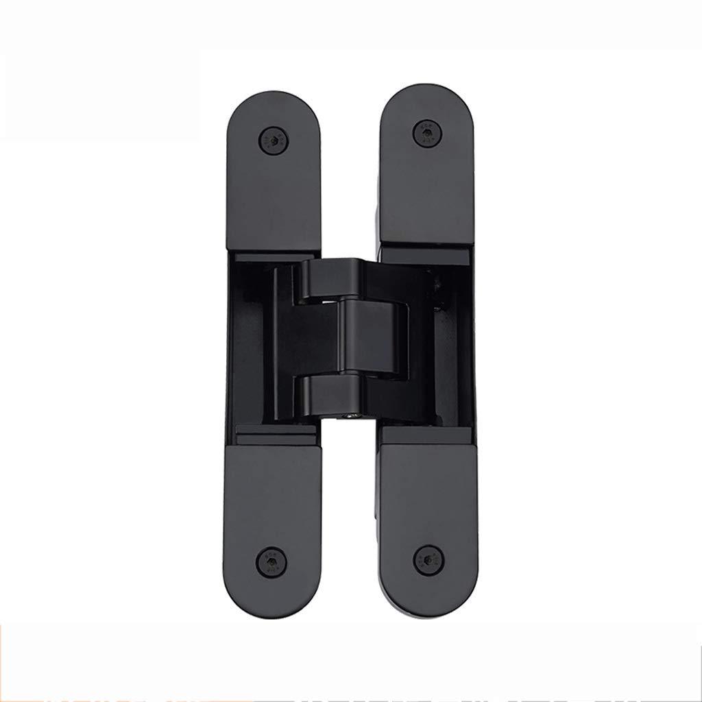 LEZDPP Dark Door Hinge Hidden Hinge Bedroom Wall Concealed Door Hinge Three-Dimensional Adjustable Hidden Door Hinge (Color : Black, Size : 4pcs) by LEZDPP