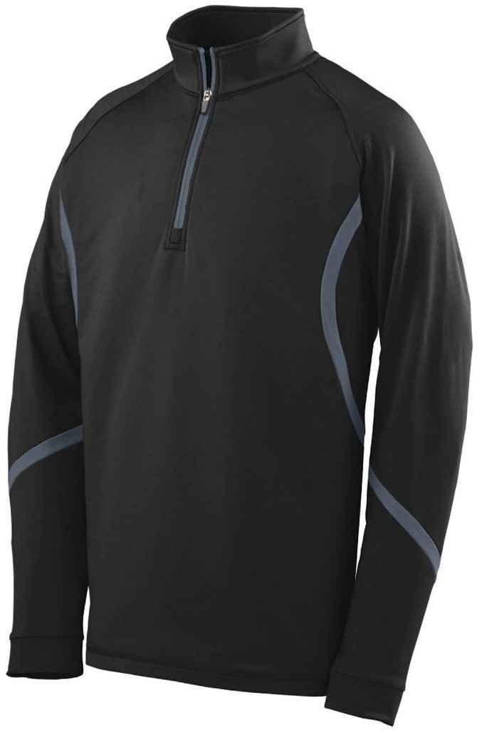 Augusta Sportswear 4760大人用Zealプルオーバー B00EZN6UH0 Medium|ブラック/グラファイト ブラック/グラファイト Medium