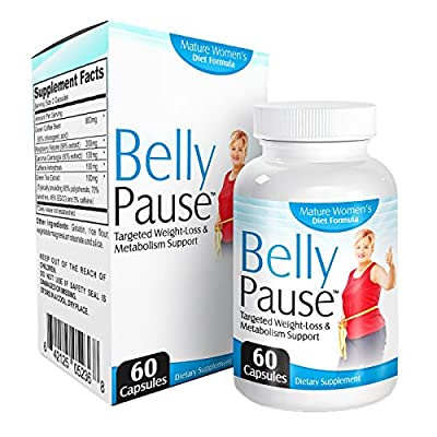 Belly-Pause: Menopause Weight Loss Supplement with Raspberry Ketone Extract, Green Tea Extract, Garcinia Cambogia Extract, Green Coffee Bean and More)