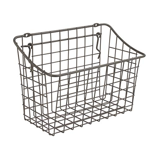 "Spectrum Diversified 88176 Pegboard & Wall Mount Basket, 10"" x 5"" x 7"", Industrial Gray, 10"