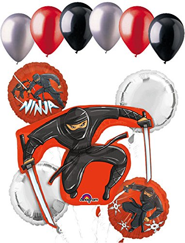 Amazon.com: 11 pc Ninja Samurai & Star Fighter Balloon ...