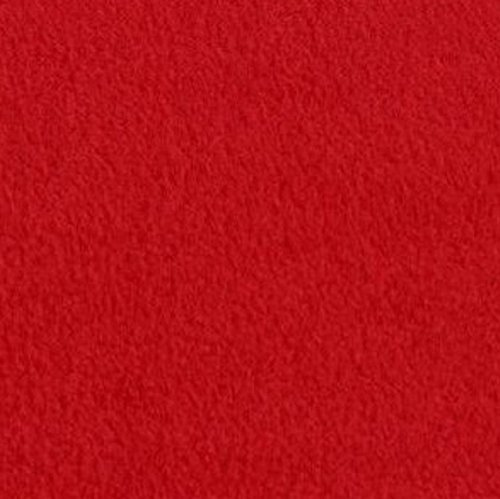(Red Anti Pill Solid Fleece Fabric, 60