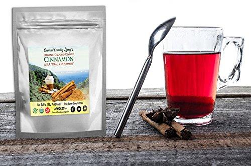 Compra Organic Ceylon Cinnamon Powder Ground 1 lb Premium Grade, Freshly Harvested, Packed, in Sri Lanka w/ E-Book, Secrets of True Cinnamon for health and beauty. en Usame