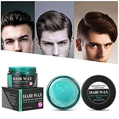 Strong Hold Hair Wax, LuckyFine Hair Styling Clay, Hair Styling Cream for Man, Unisex Hair Wax for Textured, Thickened Hair Mud Cream for Gift 4.23.oz