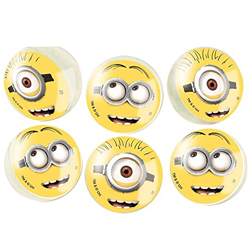 Despicable Me Minions Bouncy Ball Party Favors, 6ct ()