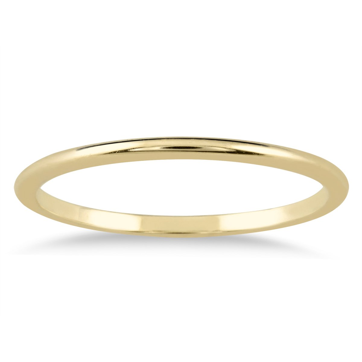 1mm Thin Domed Wedding Band in 14K Yellow Gold Size 8