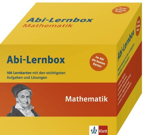 Abi-Box Mathematik: Die 100 wichtigsten Aufgaben und Lösungen auf Lernkarten