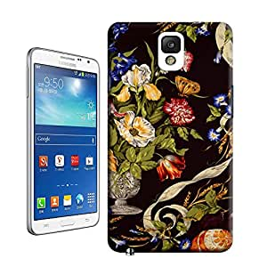 BY SHICASE Stravagante Black A Scalamandre Fabric Thin Tpu Material Hard Case For Samsung Galaxy Note3
