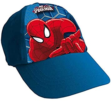 d670b811ce5ae1 MARVEL AMAZING SPIDERMAN BASEBALL CAP BOYS BLUE ONE SIZE CAP: Amazon ...