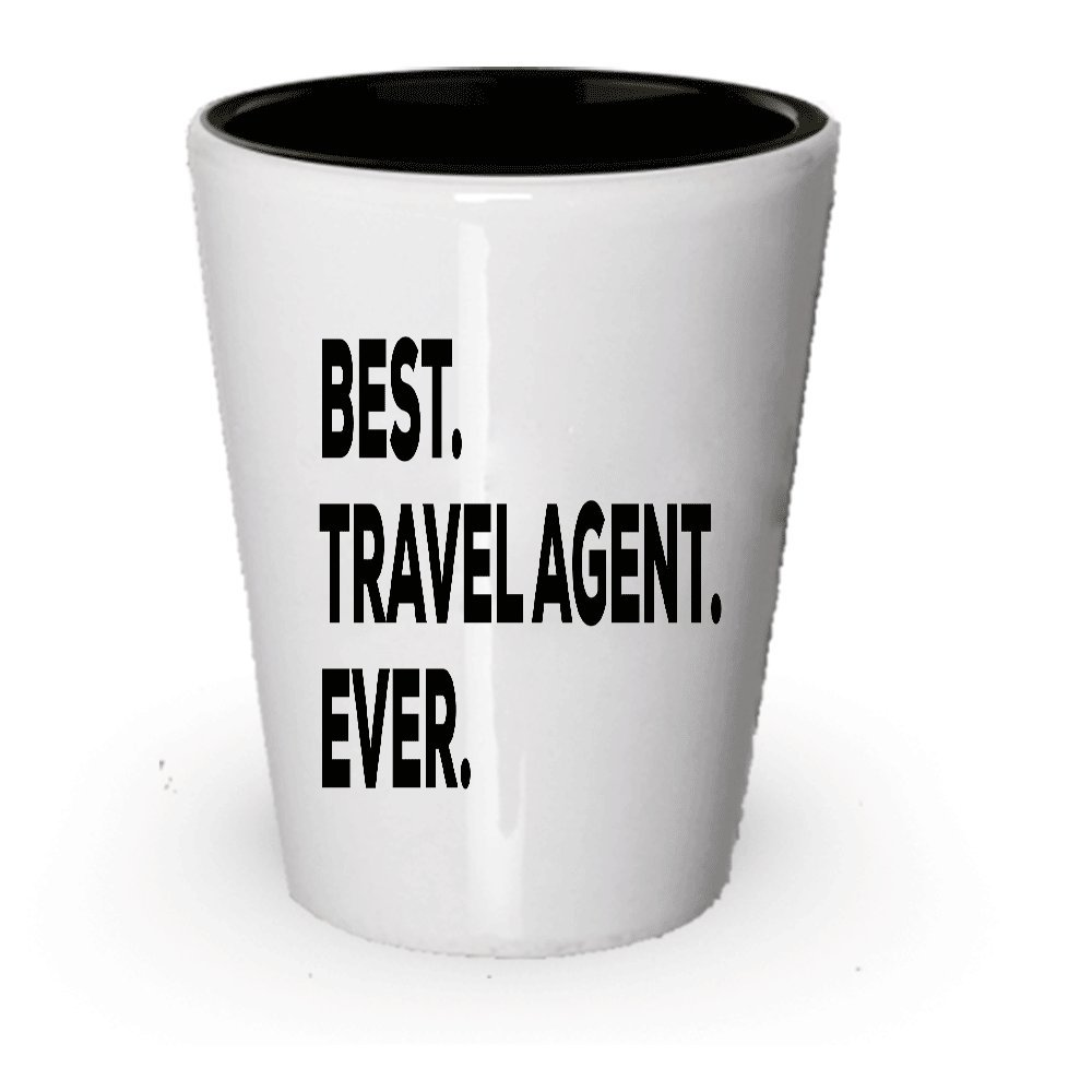 Amazon com | Travel Agent Shot Glass - Best Travel Agent