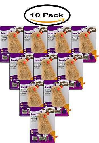 Pack Of 10   Smarty Kat  Certified Organic Catnip And Dispensing Tube Toy  1 Ct
