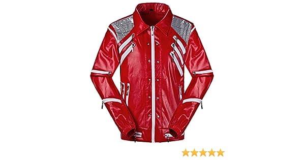 Shuanghao Michael Jackson Jackets MJ chaquetaTraje de Cosplay Thriller Batirlo Billie Jean Traje de Fiesta de Halloween Chaqueta (Give Glove) …