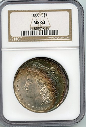 1880 Morgan Silver Dollar $1.00 MS-63 NGC