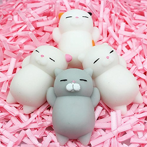 - Mochi Squishy Decompression Toys, FEITONG 3pcs /4pcs /5pcs /10pcs Medium Mini Soft Squishy Toys (4pcs)