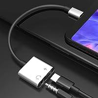 Aptador Type-C - Carregador e Fone de ouvido Type-C - USB-C - Cabo Y Usbc - Prata