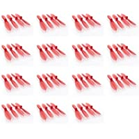 15 x Quantity of WLtoys Mini RC Beetle Transparent Clear Red Propeller Blades Props Rotor Set 55mm Factory Units