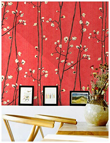 HaokHome 83009 Blooming Vintage Floral Peony Wallpaper 20.8