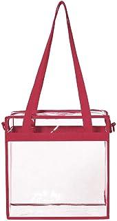 Sameno Clear Bag ✿ Transparent Tote Bag Zipper Closure PVC Plastic Bag Waterproof Shoulder Bag Storage Stadium Bag Crossbody Messenger with Adjustable Strap Unisex