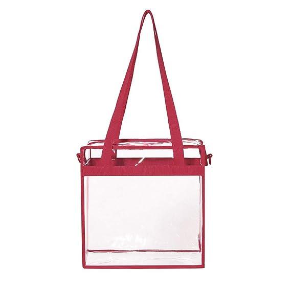 4b4e3a294a37 Amazon.com: Moonite 🌈 Clear Tote PVC Safe Transparent Hand Bag TSA ...